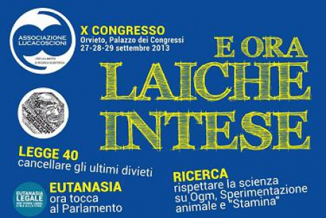 banner fondale X congresso dell'Associazione Luca Coscioni