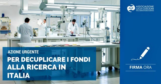 Laboratorio banner appello fondi alla ricerca