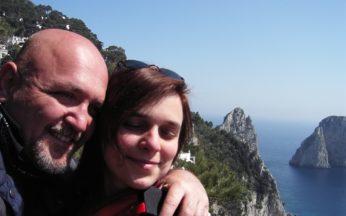 max fanelli con la moglie