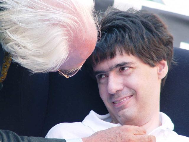 Foto con Luca Coscioni e Marco Pannella
