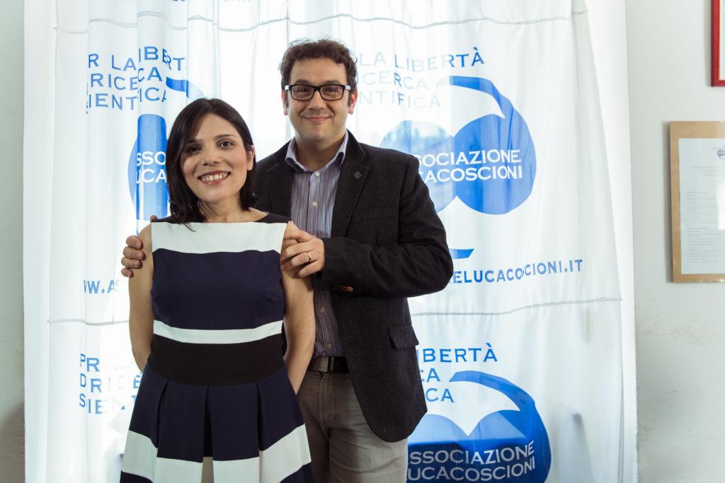Fotografia di Claudia Frau con il suo compagno
