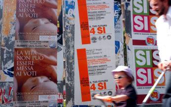 referendum abrogativi legge 40 manifesti