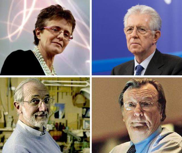 Senatori a vita - Elena Cattaneo, Mario Monti, Renzo Piano, Carlo Rubbia