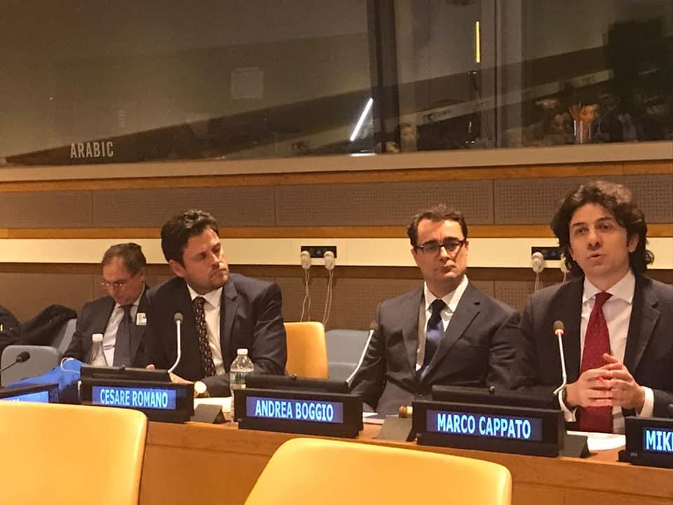 Boggio-Romano-Cappato all'ONU 2018