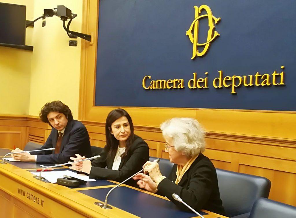 Marco Cappato Filomena Gallo Mina Welby camera dei deputati 16/03/2018 conferenza stampa appello al governo contro intervento in corte costituzionale sull'aiuto al suicidio