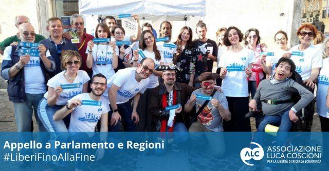 foto scattata a Roma il 21 aprile per la giornata del Biotestamento
