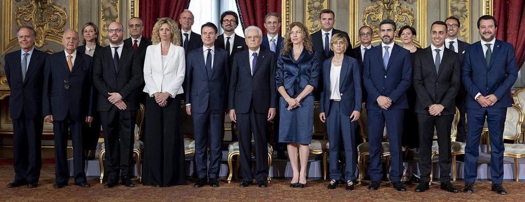 """cambiamento"""" insieme al Presidente della Repubblica Sergio Mattarella nel giorno del giuramento."""
