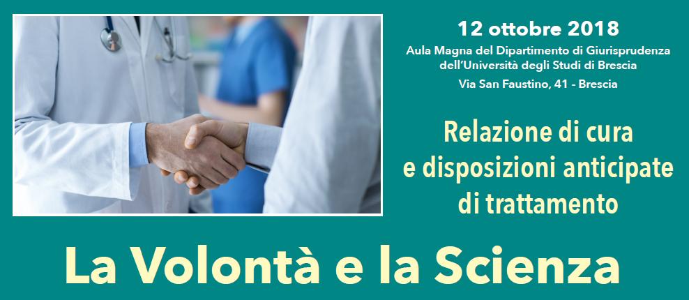 Convegno La volontà e la scienza a Brescia