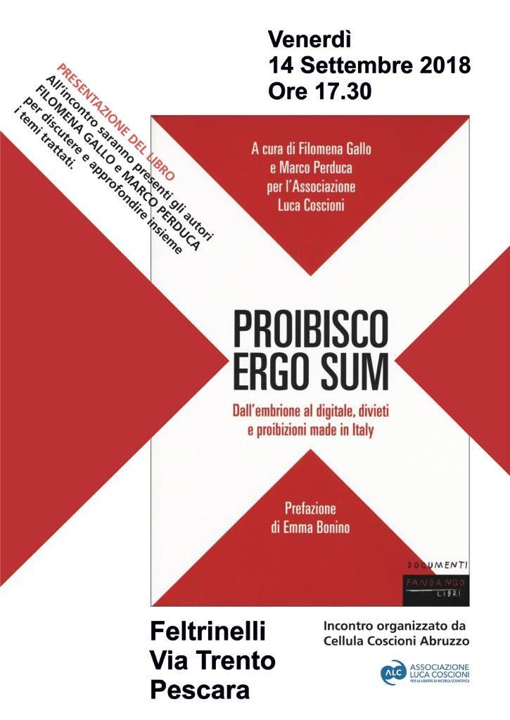 Proibisco Ergo Sum a Pescara