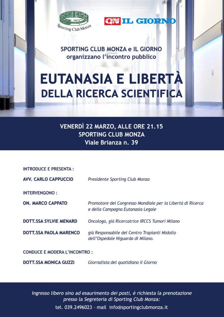eutanasia e libertà della ricerca scientifica Monza