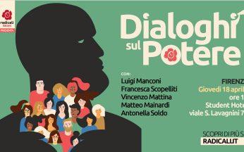 """Locandina di """"Dialoghi sul potere"""""""