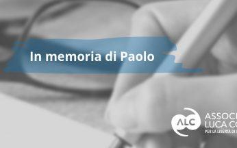 donazione in memoria di Paolo