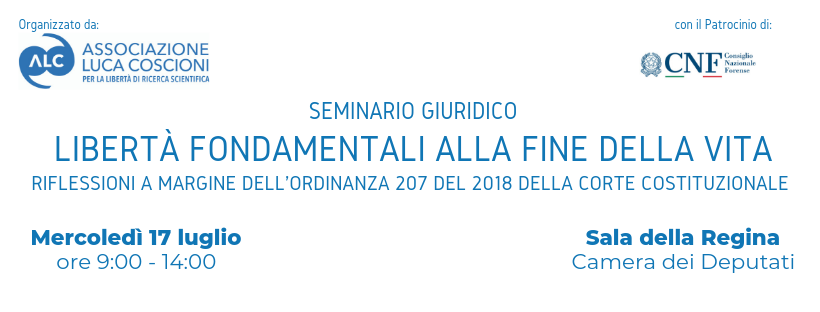 seminario giuridico libertà fondamentali alla fine della vita