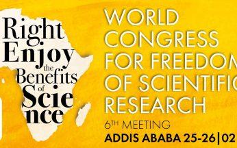 VI Congresso Mondiale per la libertà di ricerca scientifica - Addis Abeba, Etiopia