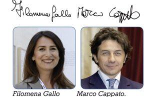Marco Cappato e Filomena Gallo